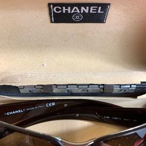 CHANEL Accessories - authentic CHANEL brown ombrée SUNGLASSES w/case